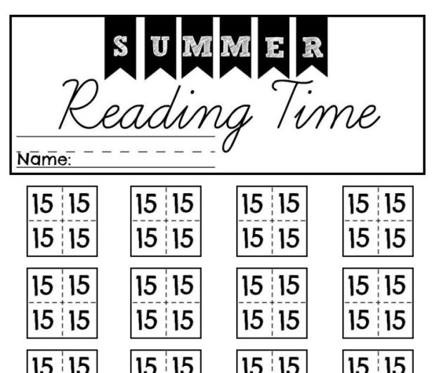Summer Reading Time Sheet