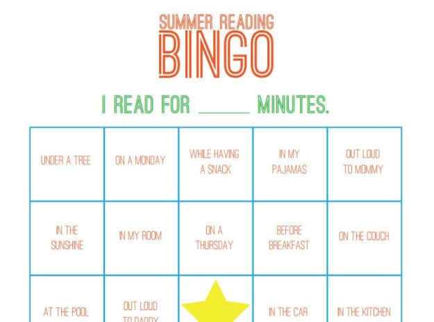 Summer Reading Bingo from PCP
