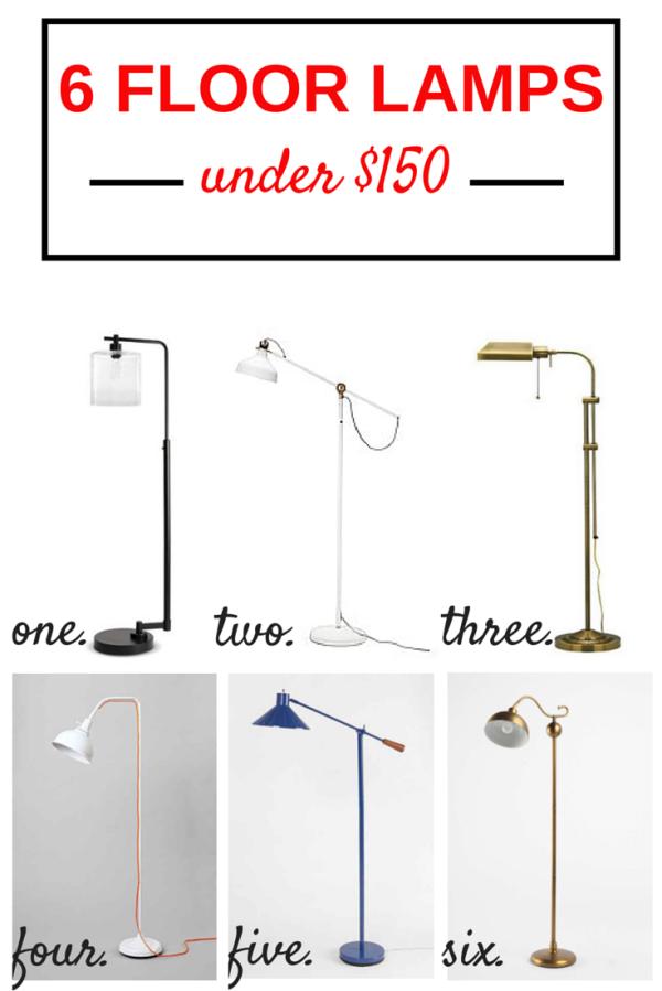 floor lamps under 150. Black Bedroom Furniture Sets. Home Design Ideas