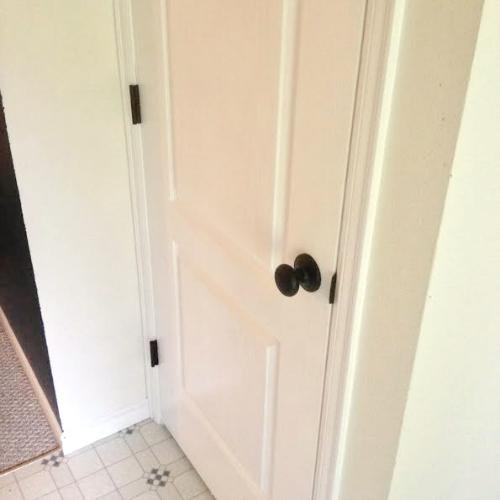 New Coat Closet Doorknob and Hinges