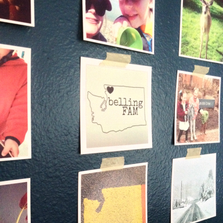 Washi Tape Instagram Photo Wall