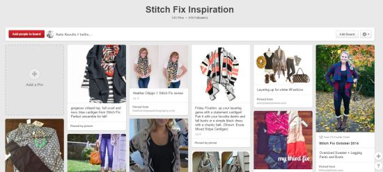 Stitch Fix Inspiration Pinterst Board