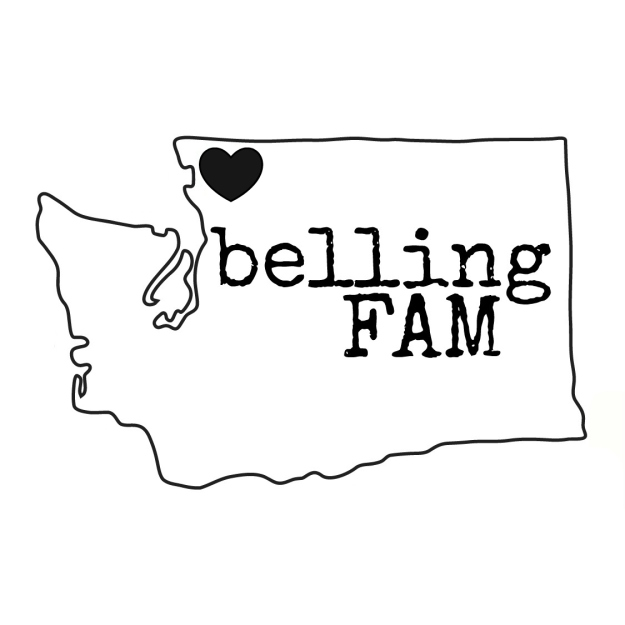 BellingFAM State Logo in Black