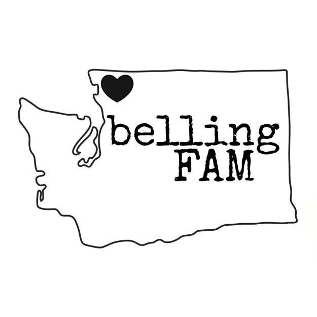 BellingFAM State Logo in Black